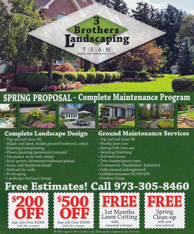Three Brothers Landscaping Coupons
